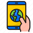mobilephone, earth, world, global, planet