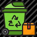 recycle, bin, box, trash