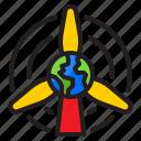 wind, earth, world, global, energy
