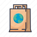 paper, bag, recycle, shop, store, shopping