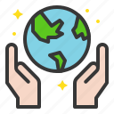 earth day, ecology, environmental protection, green, recycle, reuse, save the world icon