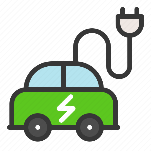 earth day, ecology, electric car, environmental protection, green, recycle, reuse icon