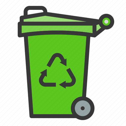 Bin, ecology, reuse, earth day, green, environmental protection, recycle icon