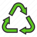 earth day, ecology, environmental protection, green, recycle, reuse icon