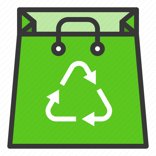 bag, earth day, ecology, environmental protection, green, recycle, reuse icon