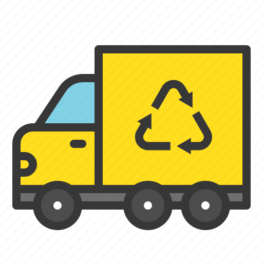 earth day, environmental protection, garbage truck, green, recycle, recycle truck, reuse icon