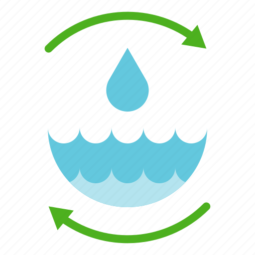 earth day, ecology, environmental protection, green, reuse, save water, water treatment icon