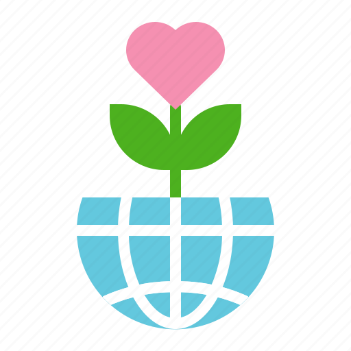 earth day, ecology, environmental protection, flower, green, planting icon