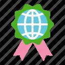 ecology, globe, earth day, green, environmental protection, badge, ribbon