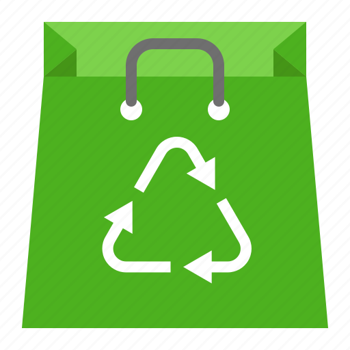 earth day, ecology, environmental protection, green, recycle, recycle bag, reuse icon