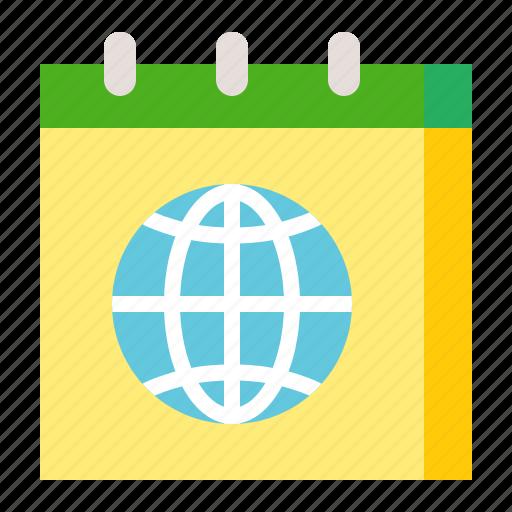 calendar, earth day, ecology, environmental protection, green icon
