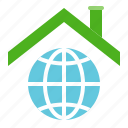 earth day, ecology, environmental protection, green, roof icon