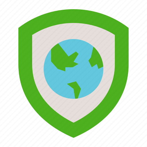 earth day, ecology, environmental protection, green, shield icon