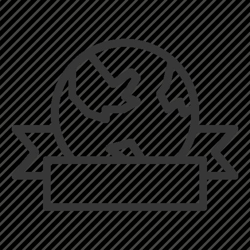 badge, earth day, ecology, environment, environmental protection, green, ribbon icon