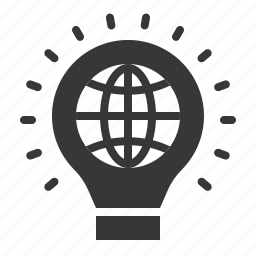 earth day, ecology, environment, environmental protection, light bulb icon