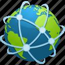 destination, earth, globe, location, network, planet, travel icon