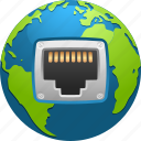 earth, ecology, environment, globe, network plug, networking, technology icon