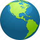 continent, earth, globe, map, north america, planet, south america icon