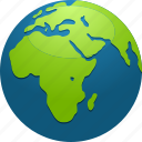 africa, continent, earth, globe, map, planet icon