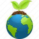 earth, ecology, environment, globe, leaf, nature, planet icon