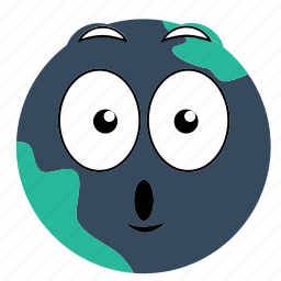 earth, excited, expressions icon