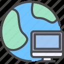 computer, internet, internet computer, network icon