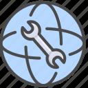 configation, internet, network icon