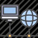 computer, network, online icon