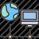 computer, internet, network, online icon