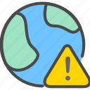 alert, earth, network, offline icon