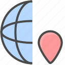 internet location, network location, network position icon