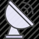 receiver, satellite, wireless icon