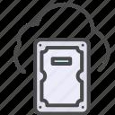 cloud, harddisk, storage icon