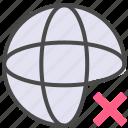 broken network, offline icon