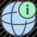 internet information, network information, online information icon