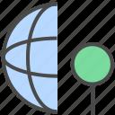 internet location, internet position, network location, network position icon