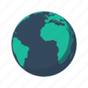 africa, america, antarctica, atlantic, earth, globe, planet icon