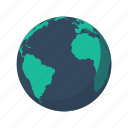 africa, america, antarctica, atlantic ocean, earth, globe, planet icon