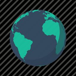 africa, america, antarctica, atlantic ocean, earth, globe, planet icon