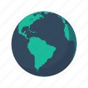america, atlantic, earth, globe, planet, sea, south icon