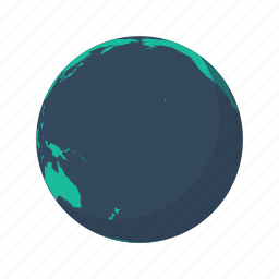 arctic, australia, earth, globe, ocean, pacific, planet icon