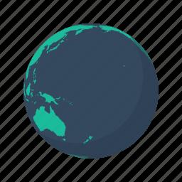 arctic, australia, earth, globe, pacific, planet, sea icon