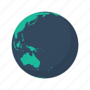 australia, earth, globe, island, ocean, pacific, planet icon