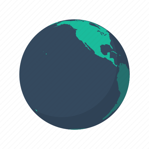 america, earth, globe, north, ocean, pacific, planet icon