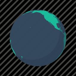 america, earth, globe, north, pacific, planet, sea icon