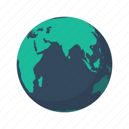 africa, asia, earth, globe, indian, ocean, planet icon