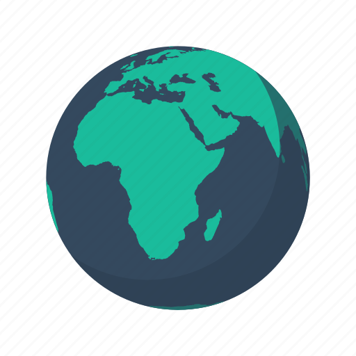 africa, earth, europe, globe, mainland, mediterranean, planet icon