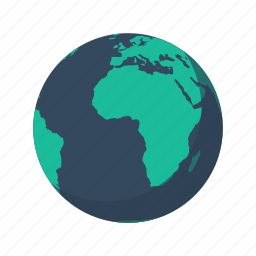africa, atlantic, earth, europe, globe, mainland, planet icon