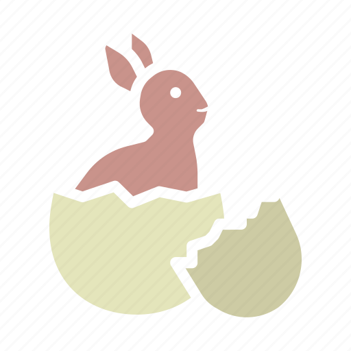 bunny, cute, easter, egg, hatch, rabbit icon