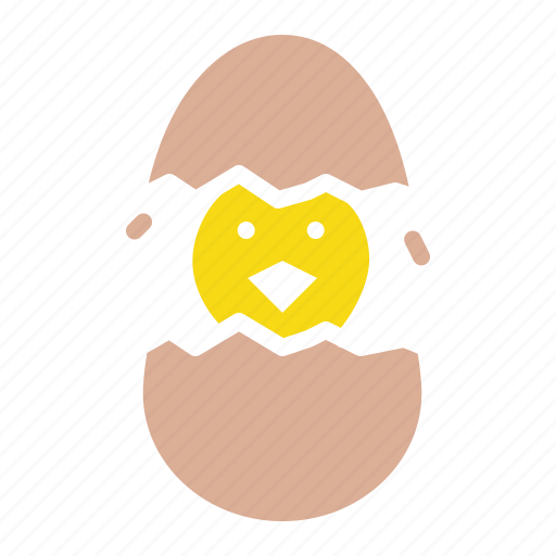 chicken, chickling, cute, easter, egg, hatch icon